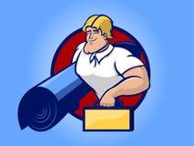 Hombre de la alfombra stock de ilustración