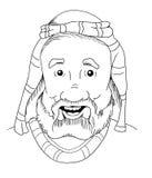Hombre de la biblia de la historieta Imagen de archivo libre de regalías