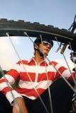 Hombre de la bici Fotografía de archivo
