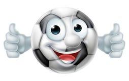 Hombre de la bola del fútbol de la historieta Imagenes de archivo