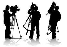 Hombre de la cámara de televisión ilustración del vector