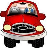 Hombre de la célula en coche Imagen de archivo