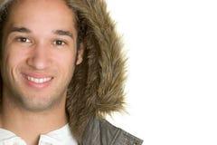 Hombre de la chaqueta del invierno imagenes de archivo