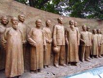 Hombre de la estatua de libertad Foto de archivo