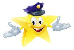 Hombre de la estrella de la policía o de la seguridad Imagenes de archivo
