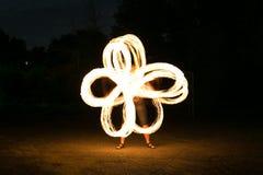 hombre de la Fuego-demostración en la acción Fotografía de archivo