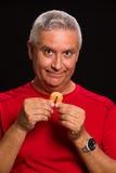 Hombre de la galleta de la suerte Fotografía de archivo
