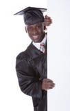 Hombre de la graduación con Bill Board Foto de archivo libre de regalías