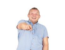 Hombre de la grasa de la risa Persona buena arrogante Imagen de archivo
