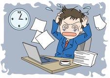 Hombre de la imagen de Worktime - confusión ilustración del vector