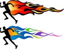 Hombre de la llama de la velocidad ilustración del vector
