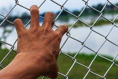 Hombre de la mano Foto de archivo libre de regalías