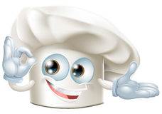 Hombre de la mascota del sombrero de los panaderos stock de ilustración