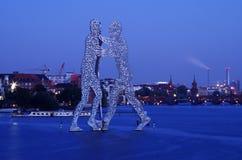 Hombre de la molécula en el treptow de Berlín Imágenes de archivo libres de regalías