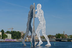 Hombre de la molécula (escultura) Foto de archivo
