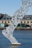 Hombre de la molécula (pedazo de la escultura) Fotos de archivo libres de regalías
