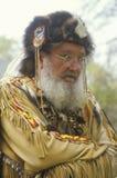 Hombre de la montaña en el traje lleno, Waterloo, NJ fotografía de archivo