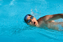 Hombre de la natación foto de archivo libre de regalías