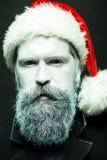 Hombre de la Navidad con la barba Imagenes de archivo