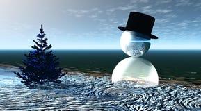 Hombre de la nieve Imagen de archivo libre de regalías