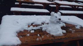 Hombre de la nieve imágenes de archivo libres de regalías