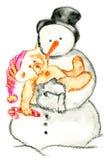 Hombre de la nieve Foto de archivo libre de regalías