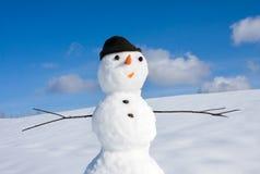 Hombre de la nieve Fotografía de archivo
