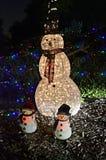 Hombre de la nieve de la Navidad Imagenes de archivo