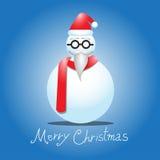 Hombre de la nieve en vector azul Foto de archivo libre de regalías