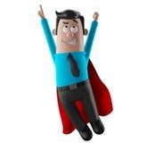 Hombre de la oficina del hombre de negocios 3D de la historieta en traje y lazo Fotografía de archivo
