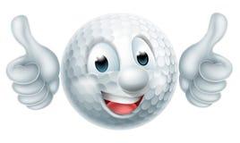 Hombre de la pelota de golf de la historieta Imagen de archivo libre de regalías