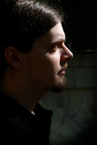 Hombre de la perilla, oscuro Fotografía de archivo
