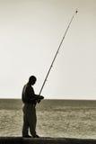 Hombre de la pesca Fotos de archivo libres de regalías