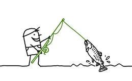 Hombre de la pesca ilustración del vector