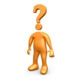 Hombre de la pregunta Imagenes de archivo