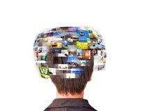 Hombre de la red Imagen de archivo libre de regalías