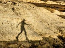 Hombre de la sombra Imágenes de archivo libres de regalías