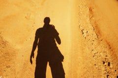 Hombre de la sombra Foto de archivo libre de regalías