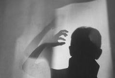 Hombre de la sombra fotografía de archivo libre de regalías
