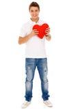 Hombre de la tarjeta del día de San Valentín Fotografía de archivo libre de regalías