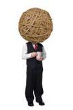 Hombre de la taza de café de la bola de Rubberband Fotografía de archivo