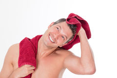 Hombre de la toalla Fotografía de archivo
