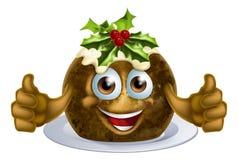 Hombre de la torta del pudín de la Navidad Fotos de archivo libres de regalías