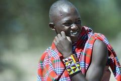 Hombre de la tribu de Massai en Tanzania Imagen de archivo libre de regalías
