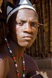 Hombre de la tribu del Zulú Foto de archivo libre de regalías