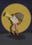 Hombre de la trompeta Imagen de archivo libre de regalías