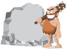 Hombre de las cavernas Imágenes de archivo libres de regalías