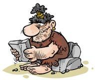 Hombre de las cavernas de la historieta Foto de archivo libre de regalías