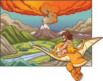 Hombre de las cavernas de la historieta Imagen de archivo