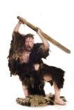Hombre de las cavernas en piel del oso Fotos de archivo libres de regalías